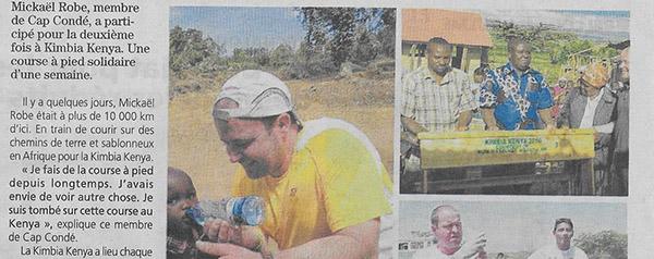 A Kimbia Kenya, Mickaël court mais donne aussi…